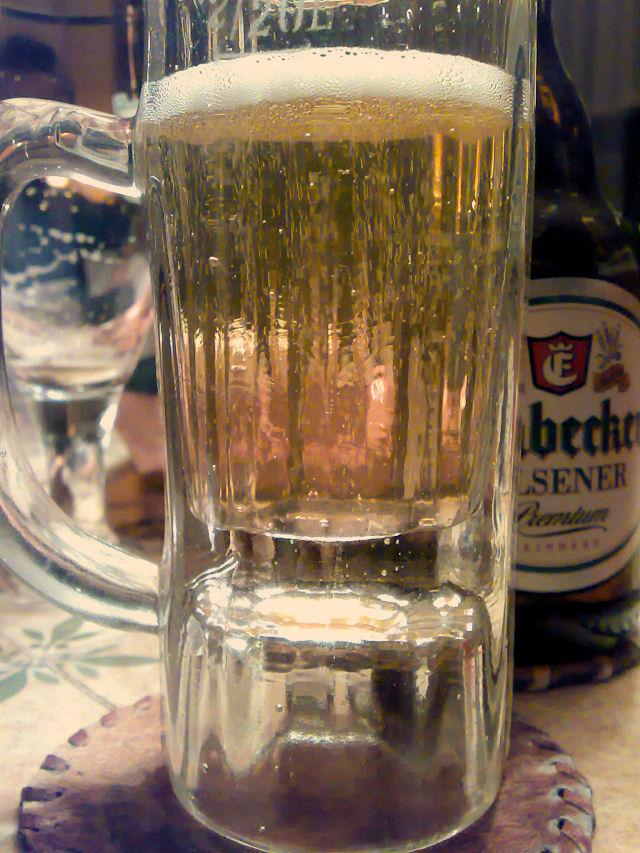 100 Jahre altes Bierglas