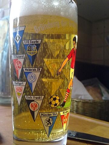 Bierglas Gründung der Bundesliga 1963