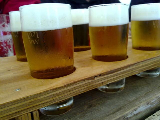 Biergläser im 10er Träger
