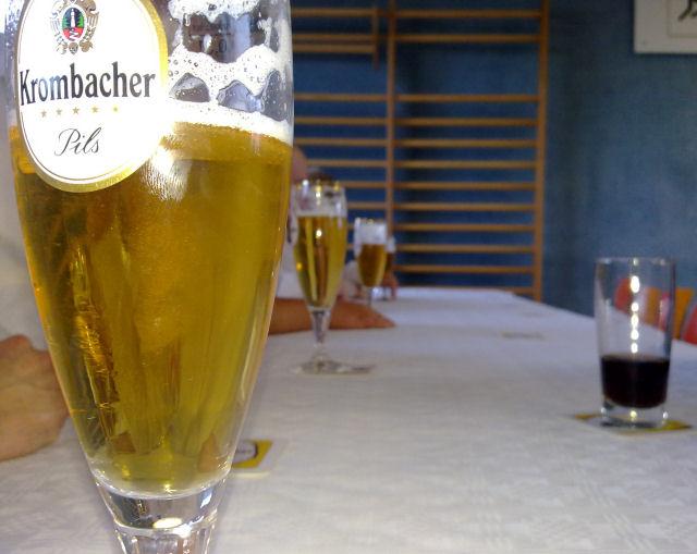 Bierglas Krombacher, 0,3l Tulpe