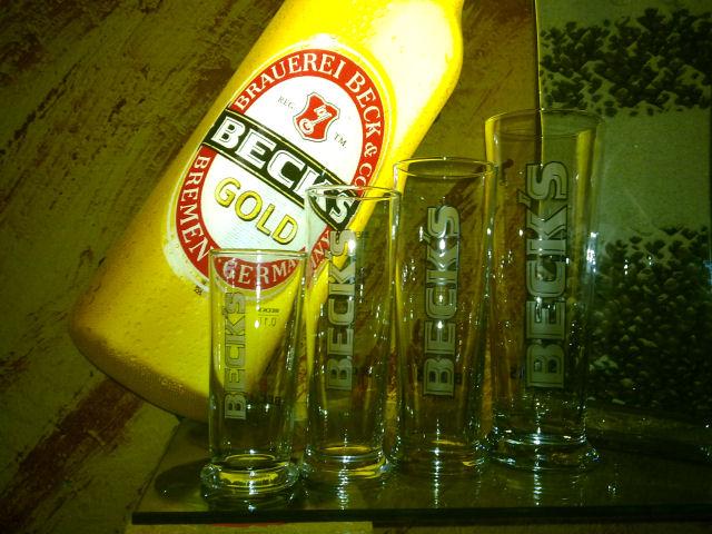 Biergläser Beck's, 0,1 - 0,2 - 0,3 - 0,5