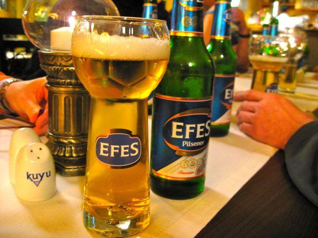 Fußball Bierglas Efes