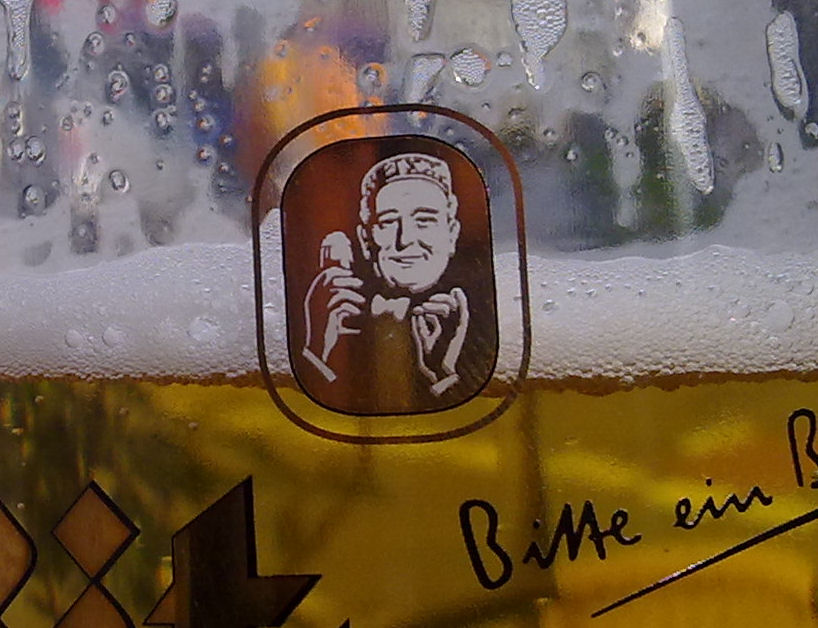 Bierglas Bitburger Logo groß