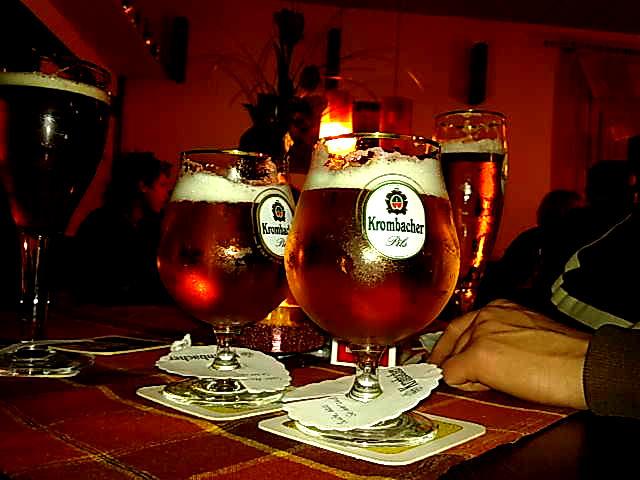 Bierglas Krombacher, Bierkugel