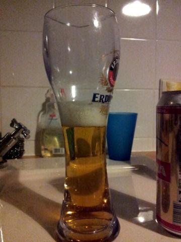 Bierglas Erdinger Kunststoff