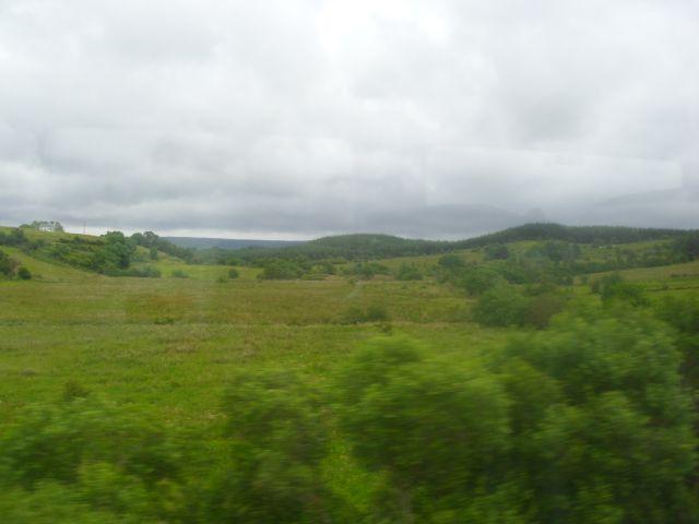 Landschaft Irland, Bild aus dem Zug