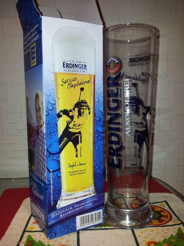Bierglas Erdinger alkoholfrei, Magdalena Neuner