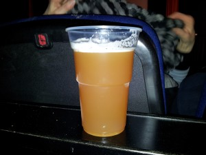Bier im Becher: Paulaner