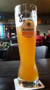 Krombacher Weizen Bierglas