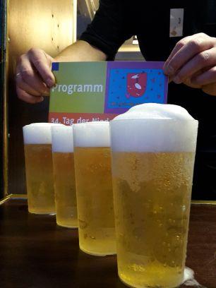 Bier im Becher mit Programm TdN