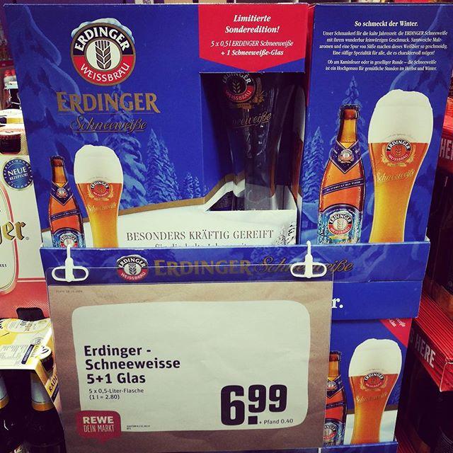 Limitiertes #Erdinger #Schneeweisse #bier #Bierglas von #sahm. #sonderedition