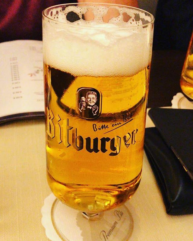 Mhhhh der durstige Herr vom #bitburger #bierglas