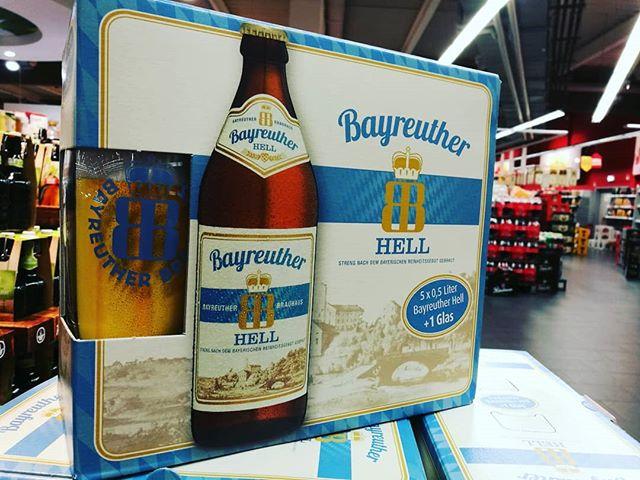 #bayreuther #hell inkl. #bierglas #musthave #bier beer