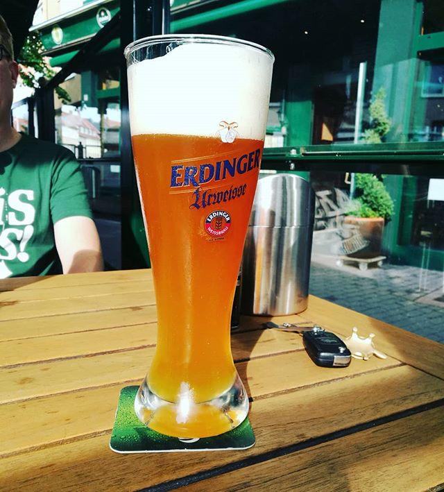 #bier #bierglas #erdinger #urweisse // zusammen mit Agent 00i im chapeau, #hildesheim