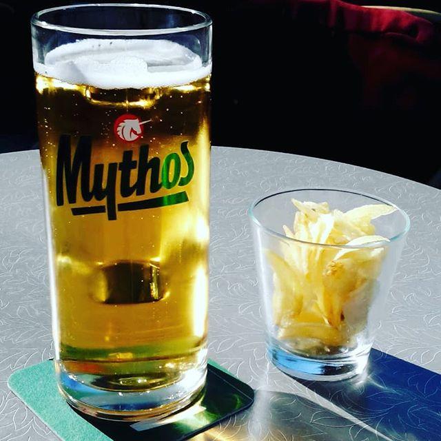 #mythos #bier #kreta #griechenland  danke für das Foto vom #bierglas